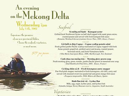 An Evening on the Mekong Delta